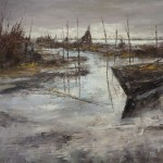Alluvione - olio su tela cm 100x120